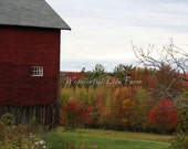 SALE (50% off) - Autumn in New England Note Card Set - Set I - 5 Photo Note Cards