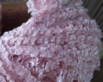 WORSTED Weight Yarn - Rose Pink 90% Silk - 25g 77 yards - Filatura Di Crosa Starshine -  Italy  Wedding