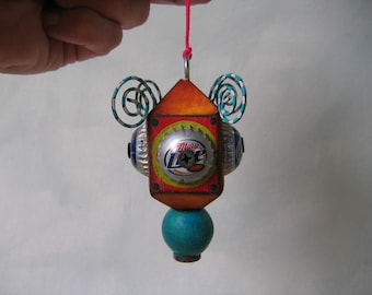 Hanging Found Object Sculpture / Ornament 5 by Fig Jam Studio