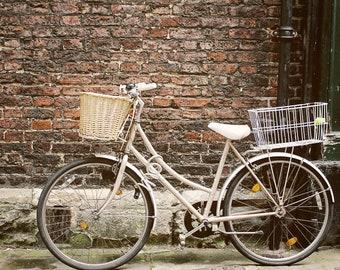 Boxing day, Vintage bike, 8x10 photo, art, photography, bike print, wall art, rustic, travel photography, home decor