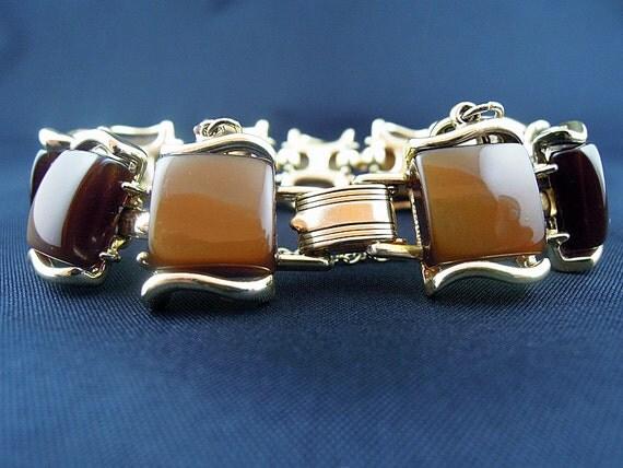 Elegant Coro Chocolate Moonray Bracelet