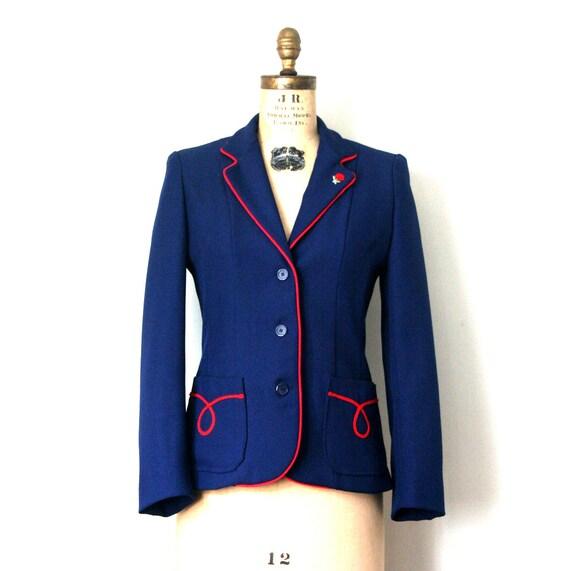 vintage jacket / blazer 1960's english SCHOOLBOY madeline RETRO preppy . s