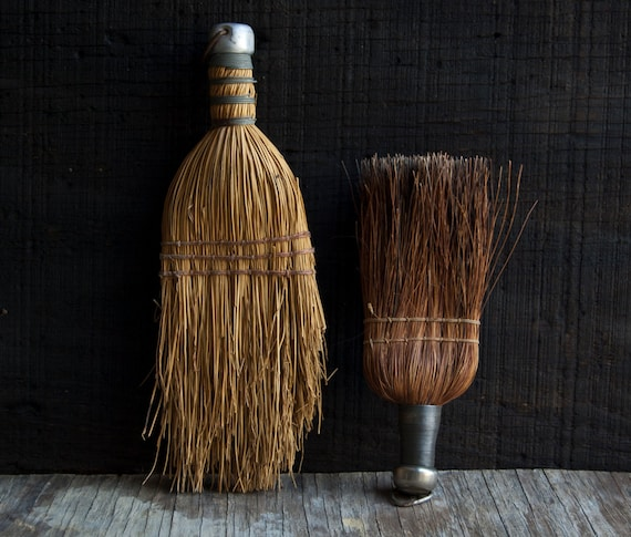 Rustic Vintage Brooms - Wooden Brushes