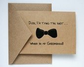 Will You Be My Groomsman -- Personalized Set of Cards & Envelopes for your Wedding Party -- CHOOSE YOUR QUANTITY