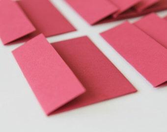 NEW Mini Envelopes - Set of 8 - Red Cardstock Paper