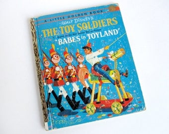 """Walt Disney's """"The Toy Soldiers"""" Little Golden Book, vintage 1961 children's book based on the movie """"Babes in Toyland"""""""