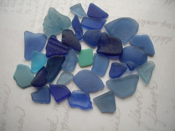 Wee Blue Seaglass Mix SG299