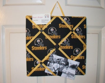 12x 12 Memo Board Pittsburgh Steelers, great for hanging pictures, memos or notes