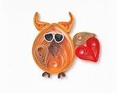 Handmade Love card funny greeting card owl card