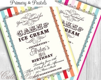 Ice Cream Invitation | Ice Cream Invite | Icecream Invitation | Ice Cream Invites | Ice Cream Social | Ice Cream Theme | Ice Cream Printable