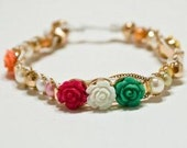 Rose Bracelet, Bead Bracelet