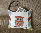 Gift Card Holder or Mini Owl Chevron Tooth Fairy Pillow - Gift for Kids