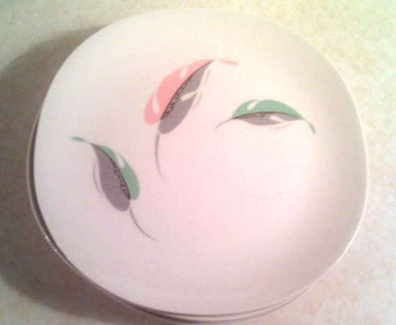 SALE Vintage Modern China Kokura Ware Fairwin pattern 1018 salad plates