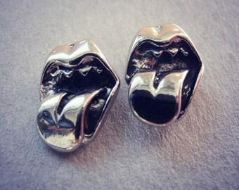 Vampire Teeth Silver Earrings - Vampire Sterling Silver Studs - Halloween Vampire Jewelry - Cartilage stud - Multiple piercing - Gothic stud
