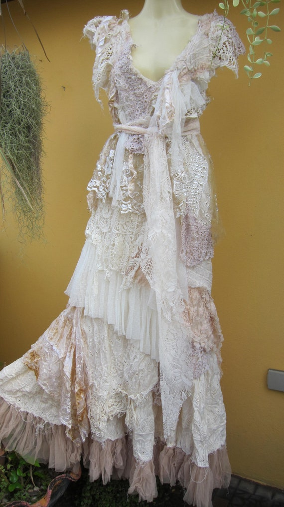 made for you to say i do....vintage inspired bohemian dress made from a ton of love...