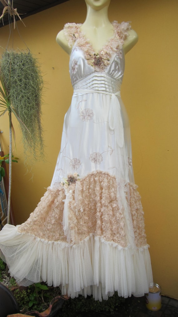 vintage inspired parties, weddings, anything embroidered satin dress.....