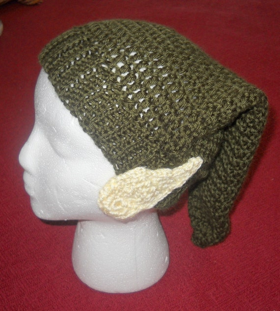 PATTERN ONLY Crocheted Zelda Link Hat with Elf Ears Attached Adult ...