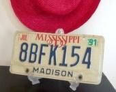On Sale Vintage Mississippi Auto License Plate 1991 Madison Bedroom Signage  Online Vintage, vintage clothing, home accents, vintage dress