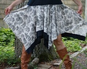 Eco-Friendly/ Upcycled / Black & White / Dress / XLarge / One of a kind by Europeninboston