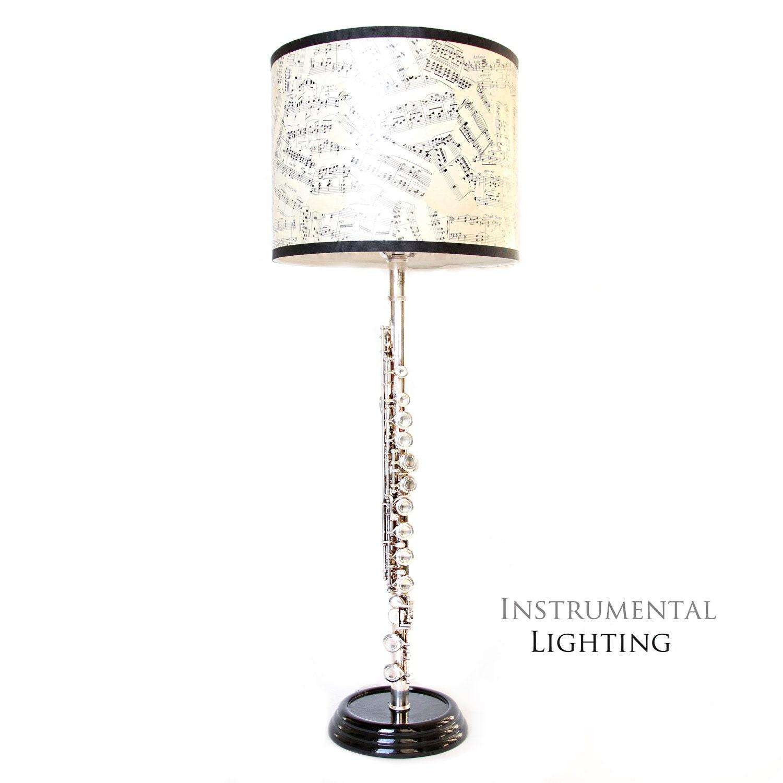 Flute Lamp Amp Sheet Music Lamp Shade