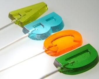 Alphabet  Letter Lollipops 6 pieces
