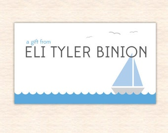 Sailboat Landscape Personalized Calling Cards – Printable File