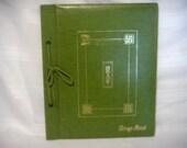 Vintage Scrapbook Album, Green Vinyl Cover
