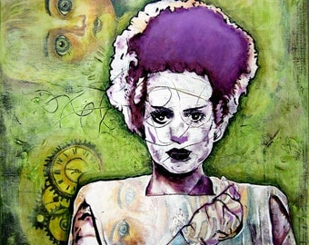 Bride of Frankenstein Painting, 24''x32''