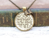 """Wuthering Heights """"Haunt Me"""" - Literature Necklace"""