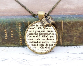 "Wuthering Heights ""Haunt Me"" - Literature Necklace"