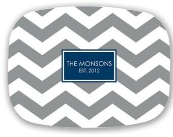 Personalized Platter, Personalized Plate, Personalized Melamine Platter, Monogrammed Melamine Plate, Personalized Wedding Gift
