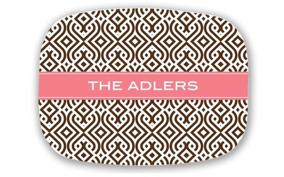 Personalized Platter - Monogrammed Serving Tray -  Monogram Wedding Gift - Hostess Gift - Kitchen Decor