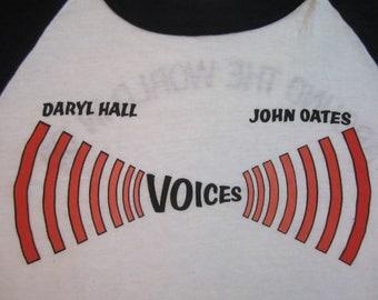 Original HALL and OATES 1980 vintage tour SHIRT