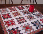 Patchwork Country Quilt Table Runner Granny Squares