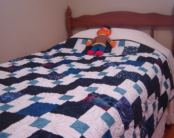 Custom Twin Quilt, Made to Order, Twin bedding, Twin Patchwork Quilted Bedding