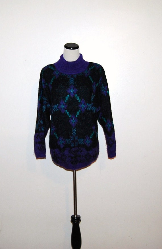 Vintage Sweater Benetton Peacock Blend by ChristmasVintage on Etsy