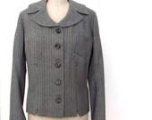 Vintage 40s jacket striped notched collar J. Nissen