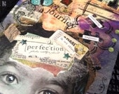 "Mixed Media Art ""I Am"" (Composition Book/Journal) Art Piece 9 3/4"" x 7 1/2"" 100 lined sheets"