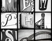 Memphis Bridge Letter Print