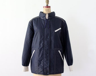1980s puff jacket, Winter Olympics coat, French ski jacket