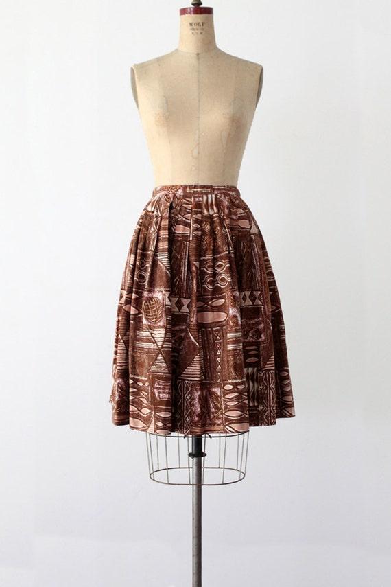 1960s Skirt / Vintage Midi Skirt / Waist 27