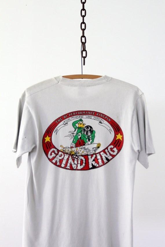 Vintage Grind King T-Shirt / 1980s Skateboarding Tee