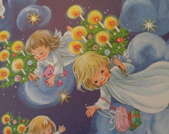 Bold Vintage Christmas Angel graphics,  Darling book illlus, Create LG  gift tags, kids cards, scrapbook BABY'S First, See Ideas
