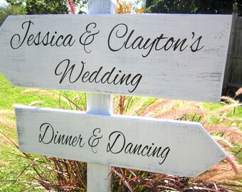 "Wedding Arrow's on Stand - 24"" x 7.25"" & 22"" x 7.25"" - with Self-Standing Stake"