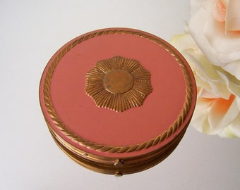 Vintage Art Deco Compact Rex Fifth Avenue Powder Compact Vanity Decor Powder Puff Dressing Table Vintage 1930s