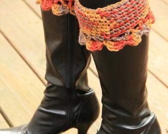 Boot Cuffs in Multi Colors, leg warmer, boot socks