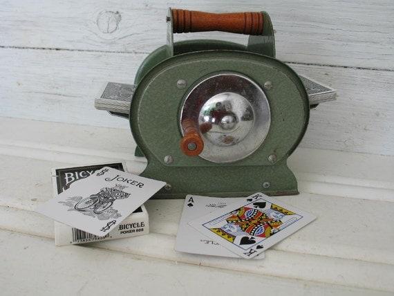 Vintage Card Shuffler - Nestor Johnson Mfg.