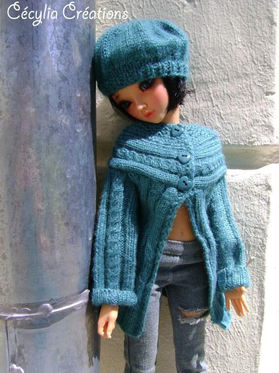 88. French and english knitting pattern PDF Cardigan and