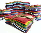 17 mini felt squares Earthy Tones from Inky Pixie