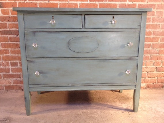FREE NYC DELIVERY Painted Duck Egg Blue Dresser Farmhouse Beach Cottage Chic